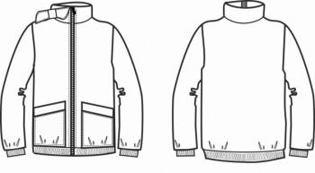 Технический рисунок - Куртка КЛЕТОЧКА Д1