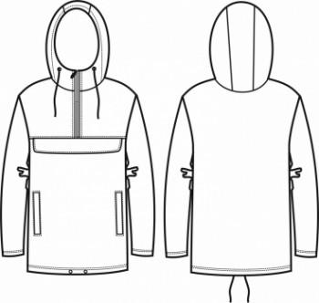 Технический рисунок - Куртка анорак ПЛ-0001