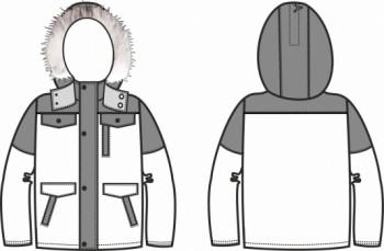Технический рисунок - Куртка Снежок