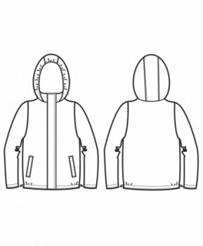 Технический рисунок - Куртка Техно