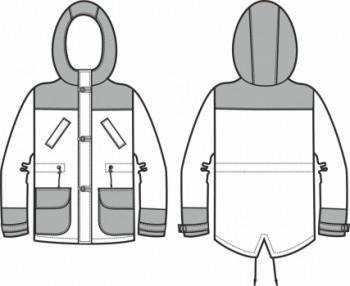Технический рисунок - Парка для мальчика