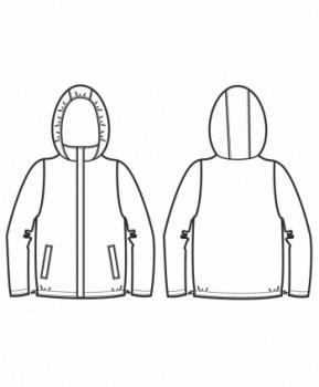 Технический рисунок - Куртка Пион