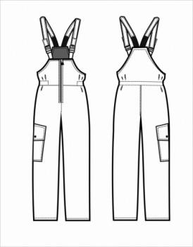 Технический рисунок - Полукомбинезон ДЛ-О823