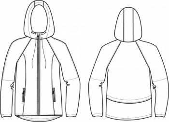 Технический рисунок - Куртка женская СД-0005