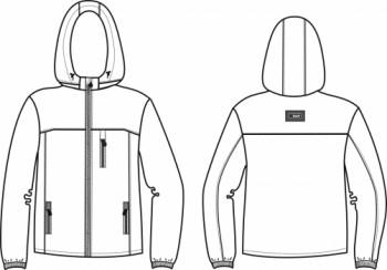 Технический рисунок - Куртка синяя 005