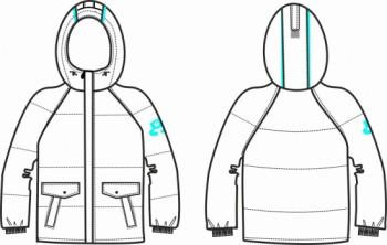 Технический рисунок - Куртка для мальчика № 9