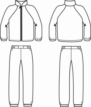 Технический рисунок - Костюм флис ДЗ 0046