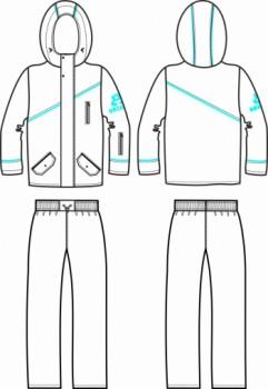 Технический рисунок - Костюм для мальчика 8 ДД-719