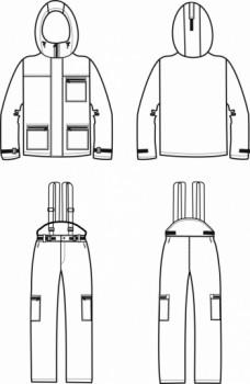 Технический рисунок - Костюм Следопыт