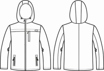 Технический рисунок - Куртка мужская Тефлон Абстракция СЗ-1002