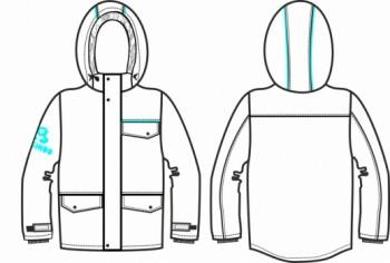 Технический рисунок - Куртка FREEDOM ДЗ 0004