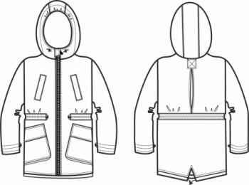 Технический рисунок - Куртка  Хартик