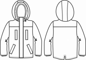Технический рисунок - Куртка Милитари