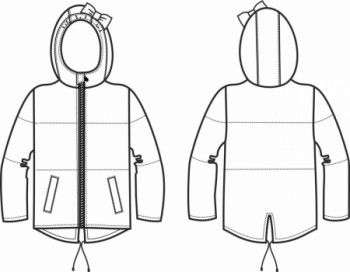 Технический рисунок - Куртка Минни