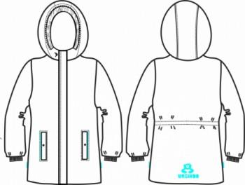 Технический рисунок - Куртка Зимняя Бежевая ДЗ 0017