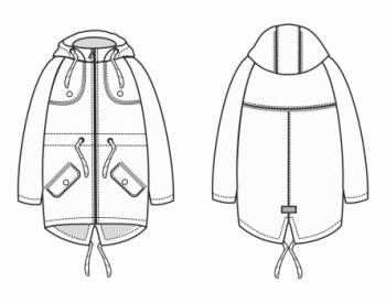 Технический рисунок - Куртка Алиса