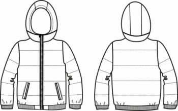 Технический рисунок - Куртка АРМИ