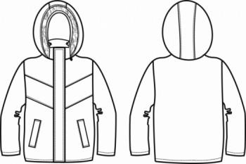 Технический рисунок - Куртка Драйв