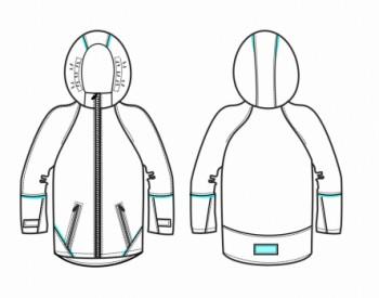 Технический рисунок - Куртка мальчик ДЗ 0054