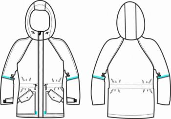 Технический рисунок - Куртка Штиль 2 для девочки Дл-0817