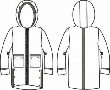 Технический рисунок - Куртка СИМПСОН