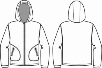 Технический рисунок - Куртка  Тайфун