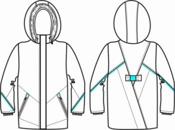 Технический рисунок - Куртка для девочки ДЗ 0043