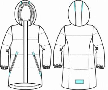 Технический рисунок - Куртка для девочки ДЗ 0044