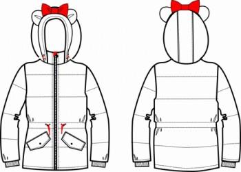 Технический рисунок - Куртка МЫШКА ЧЕРНАЯ