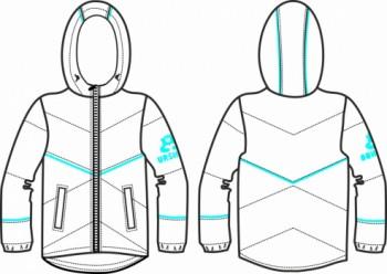 Технический рисунок - Куртка для девочки № 1