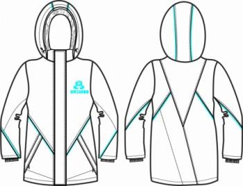 Технический рисунок - Куртка девочка ДЗ 0053
