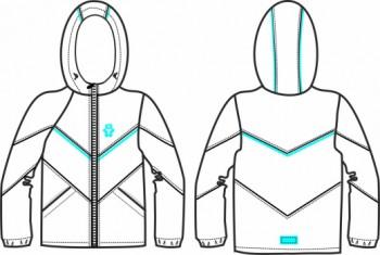 Технический рисунок - Куртка для девочки № 6