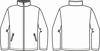 Технический рисунок - Куртка из виндблока КМФ