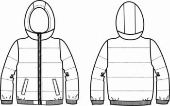 Технический рисунок - Куртка КЛЕТКА М1