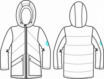 Технический рисунок - Куртка для девочки № 4