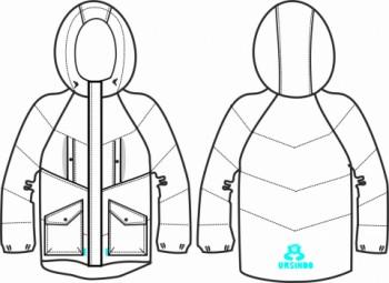 Технический рисунок - Куртка розовая ДЗ 0008