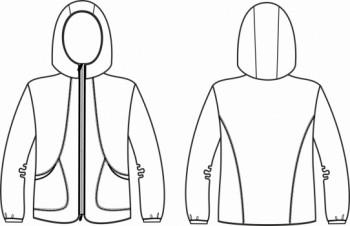 Технический рисунок - Куртка женская флис