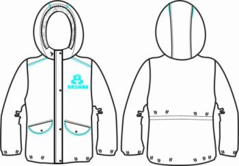 Технический рисунок - Куртка Звездочка голубая ДЗ 0010