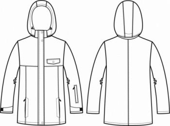 Технический рисунок - Куртка ПЗ-1003