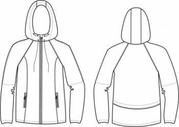 Технический рисунок - Куртка Бирюза СД-0004