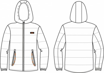 Технический рисунок - Куртка Черная СД-0006