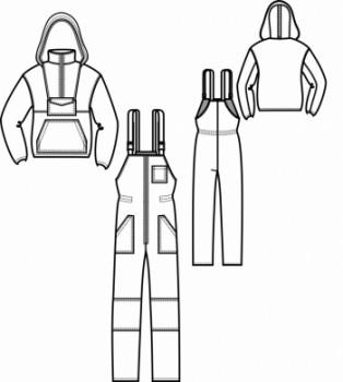 Технический рисунок - Костюм Энцефалитка с полукомбинезоном
