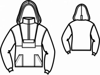 Технический рисунок - Куртка Антиклещ