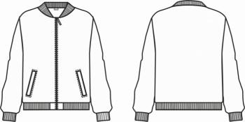 Технический рисунок - Куртка Бомбер для девочки