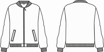 Технический рисунок - Куртка Бомбер для мальчика