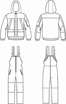 Технический рисунок - Костюм Горка зимняя Алдан