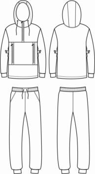 Технический рисунок - Костюм из футера для подростка ПЛ-0002