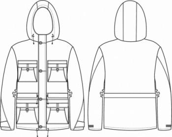 Технический рисунок - Куртка Гросс