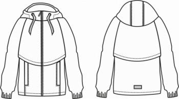 Технический рисунок - Куртка Спринг для девочки