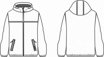 Технический рисунок - Куртка Классик для мальчика